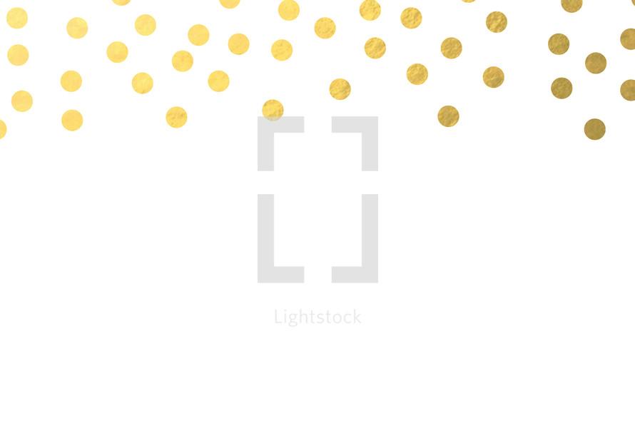 gold dot border