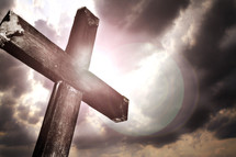 cross in a storm