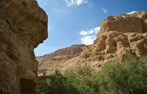 redrock mountain side