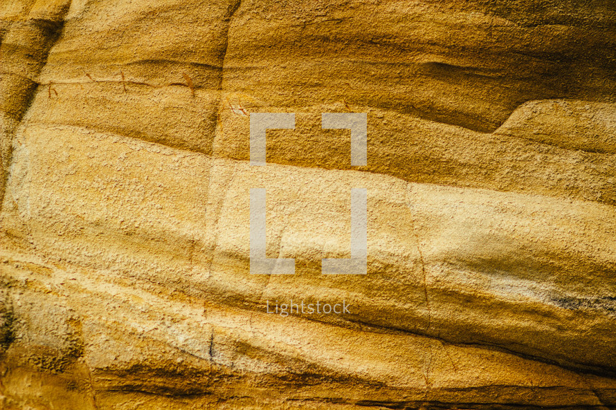 A wall of sandstone.
