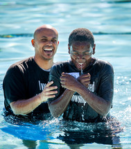 joyful baptism - dunking in water