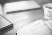 Bible opened to Exodus