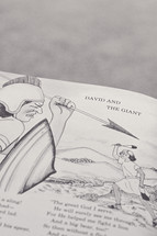 An illustrated children's book about David and the giant.