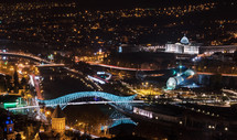 Сity Tbilisi at night.