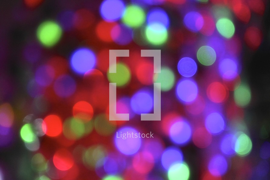 colorful bokeh holiday lights