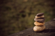 Stack of smooth stones.