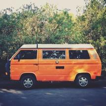 old orange van