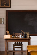blackboard and teacher's desk