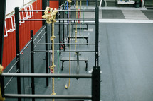 bars and ropes in a crossfit gym