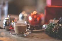 chai and Christmas background