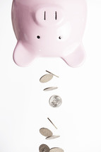 emptying the piggy bank