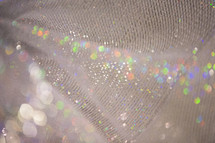 shimmering iridescent fabric