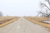 a rural gravel road