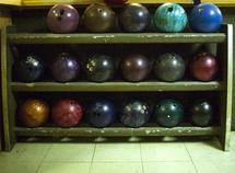 bowling ball rack