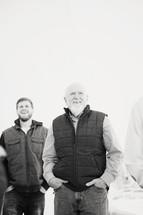 Men's group photo shot