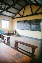 interior of a school house in Africa