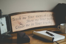 Teach me your ways oh Lord show me your paths guide me in your truths