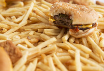 hamburger and french fry background