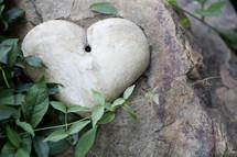 heart shaped stone