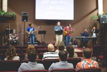 worship leaders performing on stage