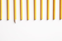 row of pencils