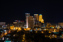 a city skyline, Tulsa, Oklahoma