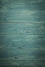 Teal, weathered wood background.