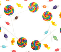 border of candy