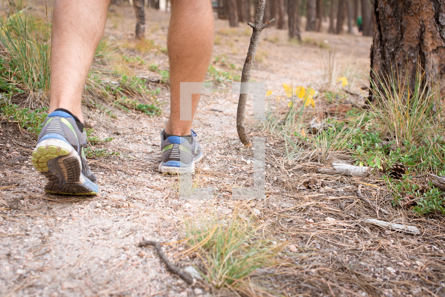 hiking a trail