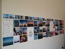 photographs on a wall