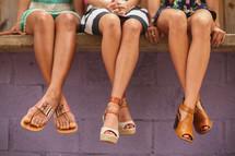 tanned summer legs