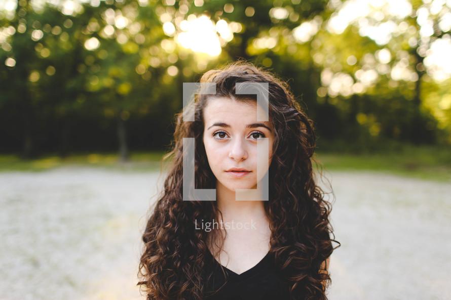 sad face on a teen girl