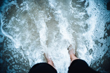 feet in the surf
