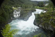 mill and rushing water