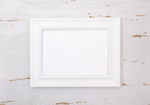 frame with blank paper
