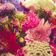 closeup of a flower bouquet