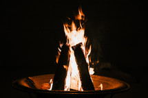 flames in a fire pit