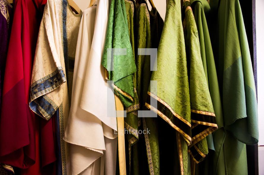 Priest Vestments hanging