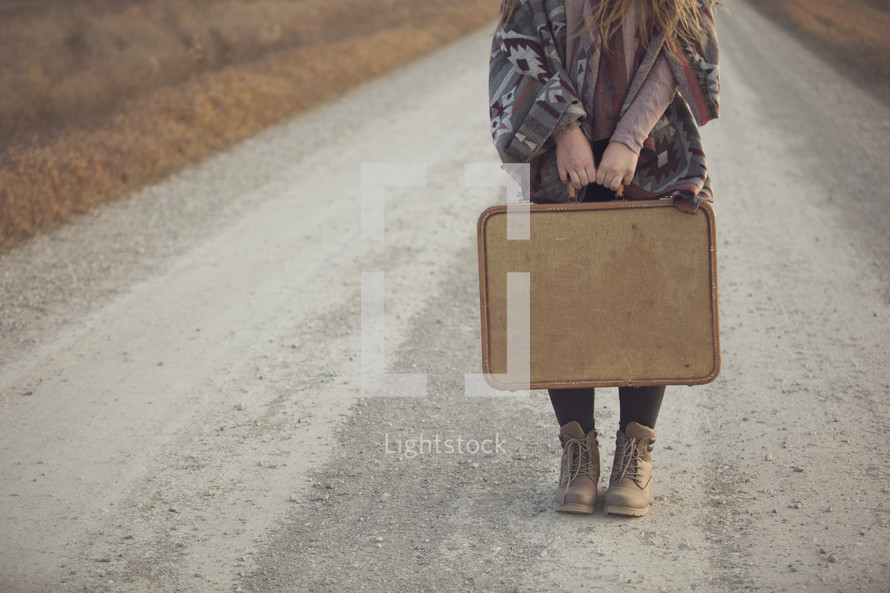a young girl ready to travel