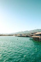 end of an ocean pier