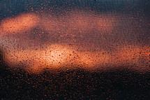 wet screen at sunrise