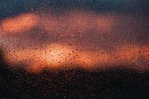 wet screen at sunrise