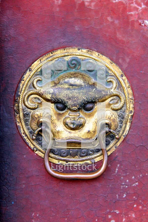Asian door knocker