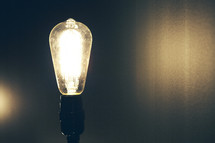 glowing Edison bulb