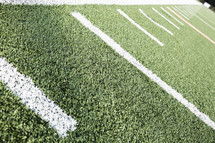 lines on a football field.
