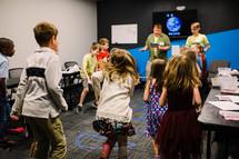 kids playing in children's church