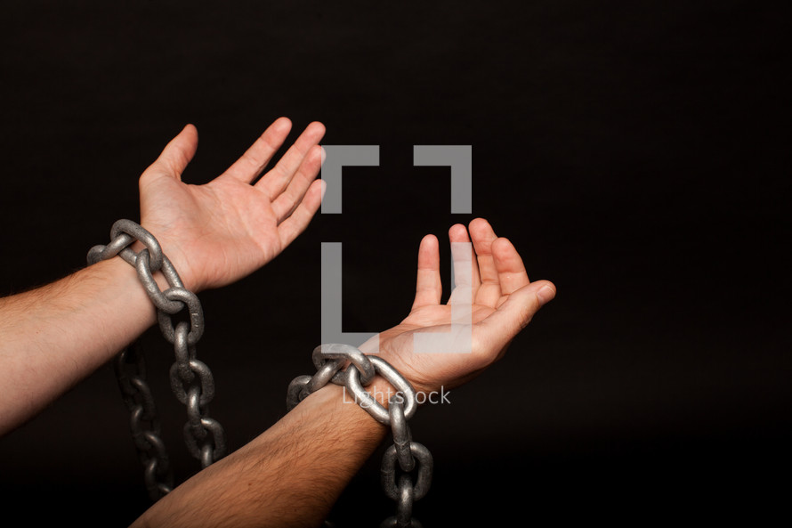 wrists with chains