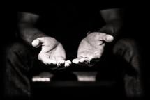 open hands in prayer