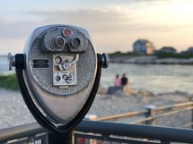 viewfinder scope on a beach deck