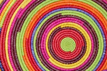 Colorful spiral mat background